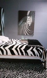Oversized zebra picture on canvas in Fort Rucker, Alabama
