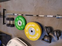 Weight lifting bar plates and kettle bells in Schofield Barracks, Hawaii