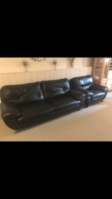 Leather couch & chair in Algonquin, Illinois