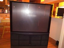 Old rear projection tv in Nellis AFB, Nevada
