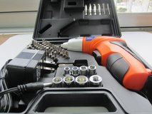Cordless Screw-driver 42 pcs set with charger used only 3 hours in Okinawa, Japan