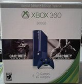 XBOX 360 500GB Call of Duty Blue Bundle and 34 Games in Macon, Georgia