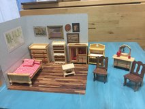 Wooden doll furnitures and play ground in Okinawa, Japan