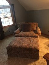 Family Room Chair and 1/2 + Ottoman in DeKalb, Illinois