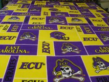 Handmade ECU fleece throw blanket in Fort Bragg, North Carolina
