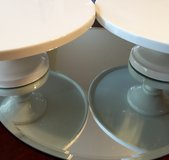 "(2) Martha Stewart whiteware 10"" cake stands in Bolling AFB, DC"
