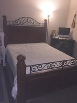 Solid Oak Queen Bed Frame in San Diego, California
