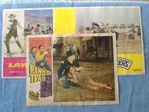 Vintage WESTERN Movie Theatre Mini Display Poster Lot in 29 Palms, California