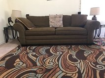 Microfiber couch , rug in bookoo, US