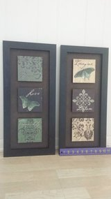 Pair of Inspirational Framed Wall Art in Lockport, Illinois
