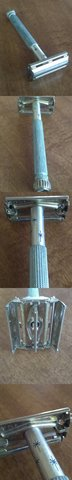 Vintage LADY Gillette Blue Star Burst Double Edge Safety Razor  in Coldspring, Texas