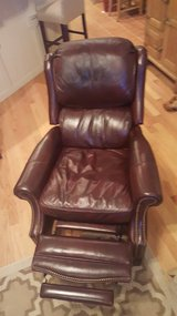 Maroon Leather High Back Recliner in Macon, Georgia