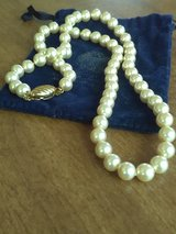 Real pearl necklace with carrying bag in Coldspring, Texas