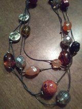 Vintage mixed bead necklace in Coldspring, Texas