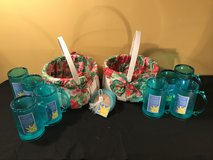 NEW with TAGS (2) TWO Summer Patio Entertaining and Basket Sets (8) FREEZER MUGS and (8) Coasters in Lockport, Illinois