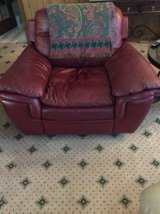 Burgundy leather recliner in Fort Gordon, Georgia