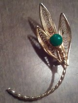 Vintage leaf brooch in Coldspring, Texas
