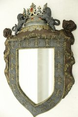 Hand Crafted Crown Lions Decor Mirror in Spring, Texas