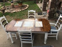 Solid Oak Dining Table and Chairs in Katy, Texas