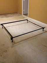 Adjustable  Twin  to Full Size Metal  Bed Frame  Portable  & On Wheels in Kingwood, Texas