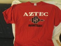 Aztec basketball t-shirt size xl used San Diego State in Okinawa, Japan