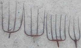 Rustic Pitch Forks for Yard Art in Yucca Valley, California