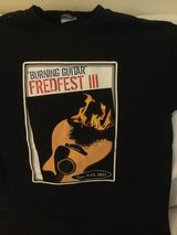 BURNING GUITAR t-SHIRT FREDFEST III  USED size Medium in Okinawa, Japan