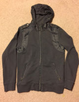 INC Mens GRAY FRONT ZIP HOODIE Sz MEDIUM in Tinley Park, Illinois