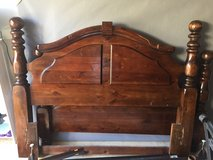 Solid wood bed- full/queen in Kingwood, Texas