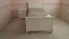 White Twin Bedroom set with Nightstand and Desk in Naperville, Illinois