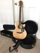 NEW Fender GC-140SCE Grand Concert Acoustic-Electric Cutaway GUITAR, HARD CASE & STRAP in Naperville, Illinois