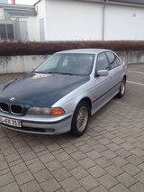 Silver 1997 BMW 520i 6 Cyl Standard (No Automatic) Sedan Inspection guaranteed in Ramstein, Germany