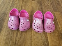 2 pair of Hello Kitty crocs size 10/11 in Watertown, New York