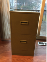 2 Drawer Metal File Cabinet in Orland Park, Illinois