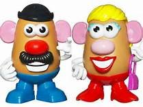 Mr and Mrs Potatoe Heads in bookoo, US
