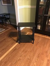 Black wood vintage side table in Naperville, Illinois