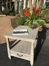 Painted Grey End table/Side Table in Naperville, Illinois