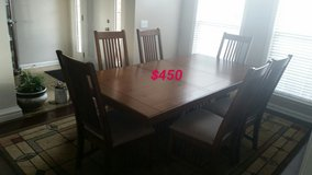 6 chairs Dining Table,,,  Just reduced!!! in Fort Rucker, Alabama