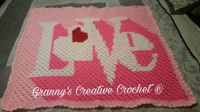 Love Baby Blanket, Girls Throw in Fort Polk, Louisiana