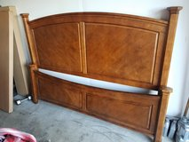 King size bed frame in Travis AFB, California