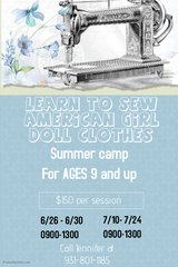 Sewing summer camp in Clarksville, Tennessee