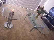 Glass coffee table & 2 Glass stands in Fairfield, California