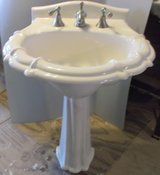 Unusual Pedestal Sink with fancy faucet. in Conroe, Texas