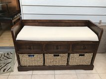 storage wood bench in Naperville, Illinois