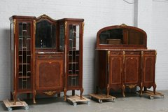 Buffet and Server Louis XIV Belgium Mahogany 1900 (ref.nr. 5861) in Ramstein, Germany
