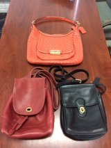 Vintage Lot of 3 COACH Purses - Burgandy Black Orange in Naperville, Illinois