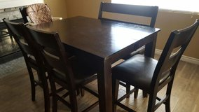 Cappuccino Dinning Table with Bench and Chairs in Temecula, California