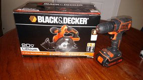 Black and Decker 20v Lithium Drill and Saw in Camp Lejeune, North Carolina