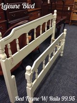 FULL / QUEEN BED FRAME W RAILS in Camp Lejeune, North Carolina