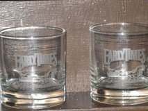 pr. etched early times rock glasses in Chicago, Illinois